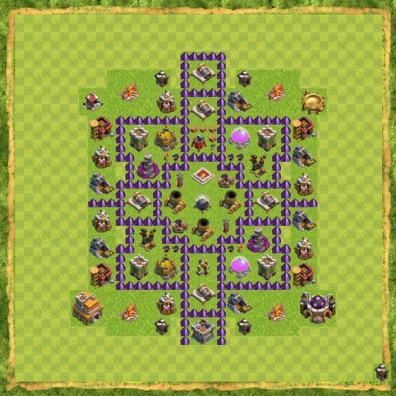 Base Farming Coc Th 7 22