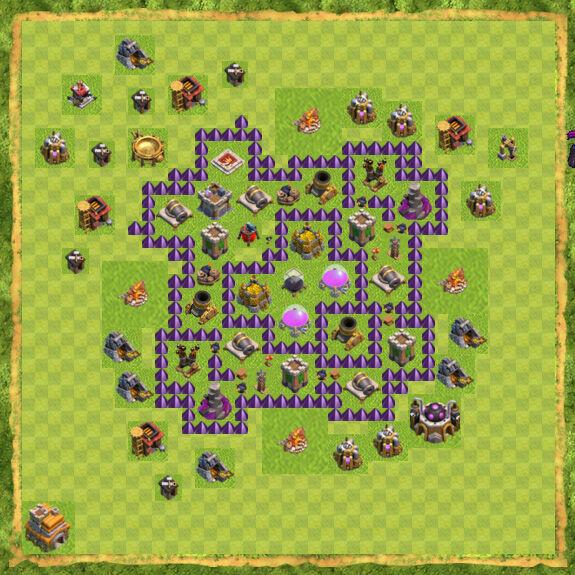 Base Farming Coc Th 7 24
