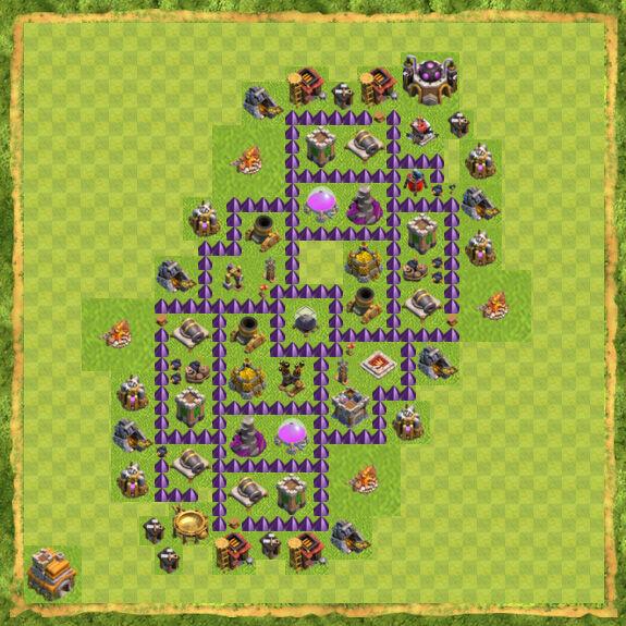 Base Farming Coc Th 7 25