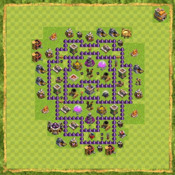 Base Farming Coc Th 7 27