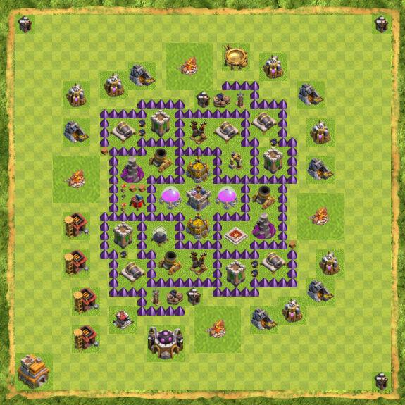 Base Farming Coc Th 7 34