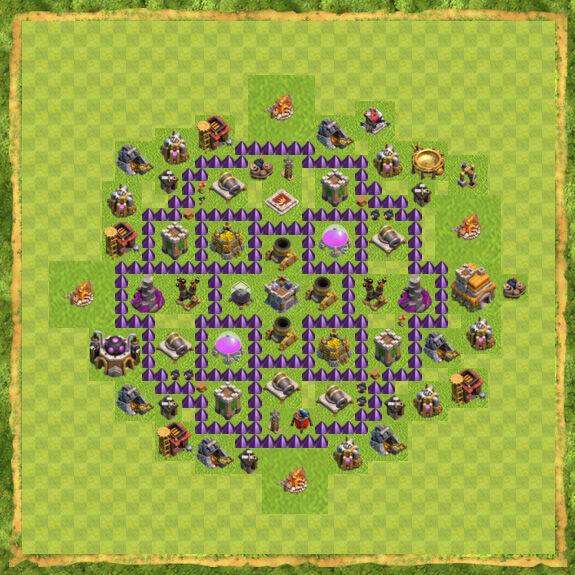 Base Farming Coc Th 7 35