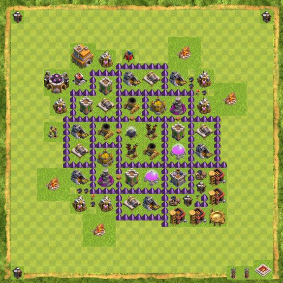 Base Farming Coc Th 7 36