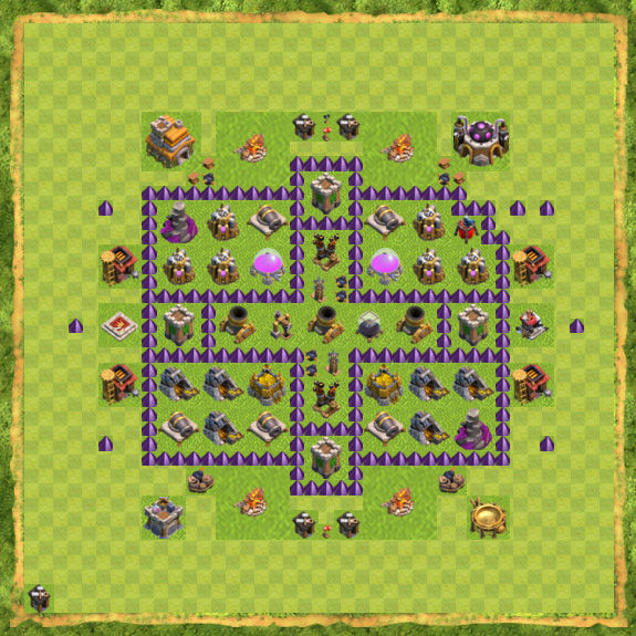 Base Farming Coc Th 7 37