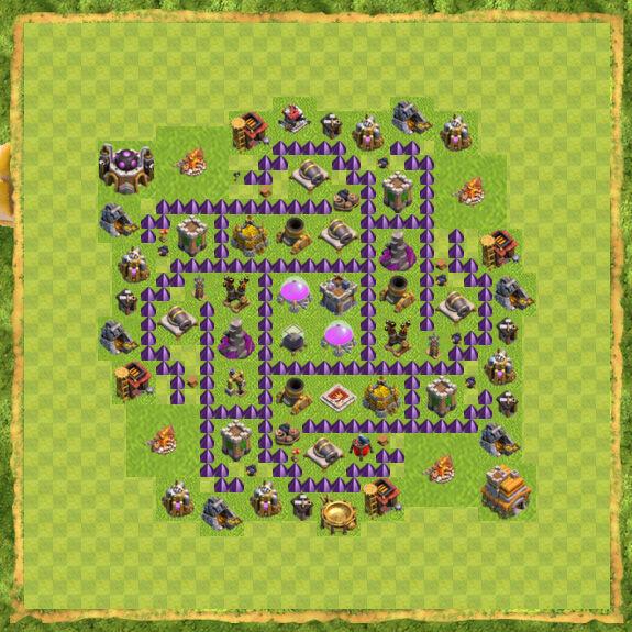 Base Farming Coc Th 7 38