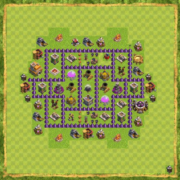 Base Farming Coc Th 7 4