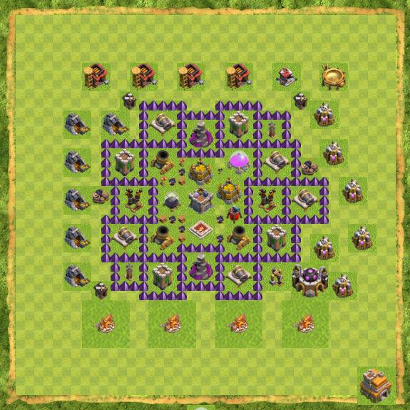 Base Farming Coc Th 7 40