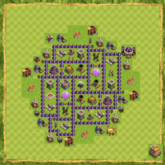 Base Farming Coc Th 7 41