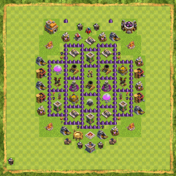 Base Farming Coc Th 7 42