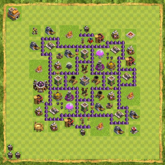 Base Farming Coc Th 7 44