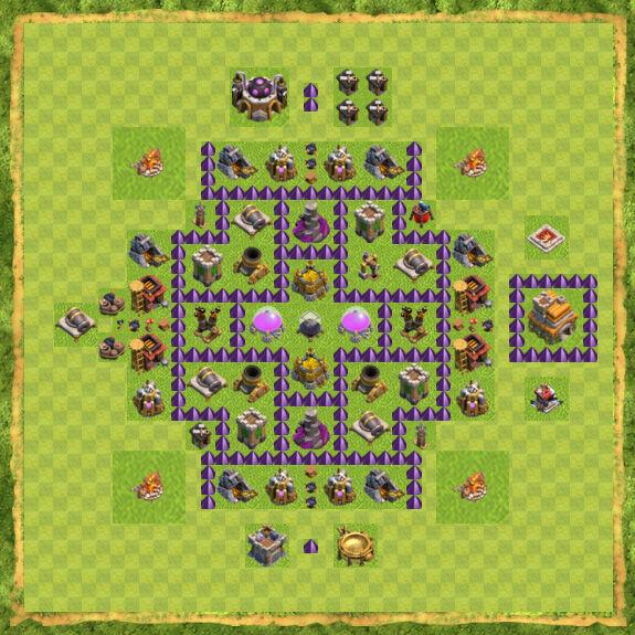 Base Farming Coc Th 7 45