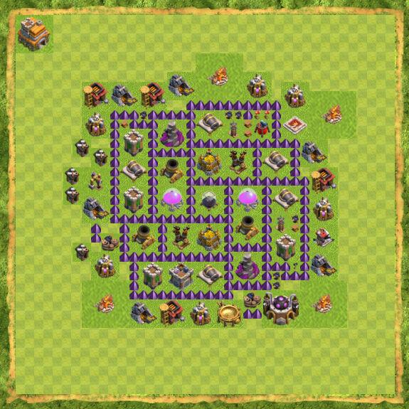 Base Farming Coc Th 7 46