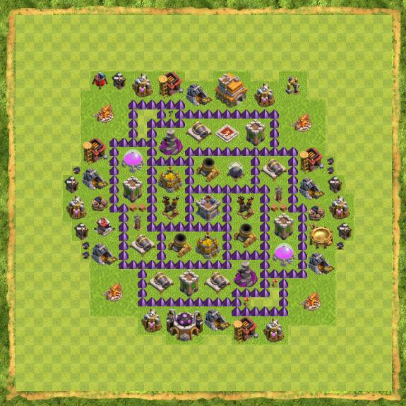 Base Farming Coc Th 7 48