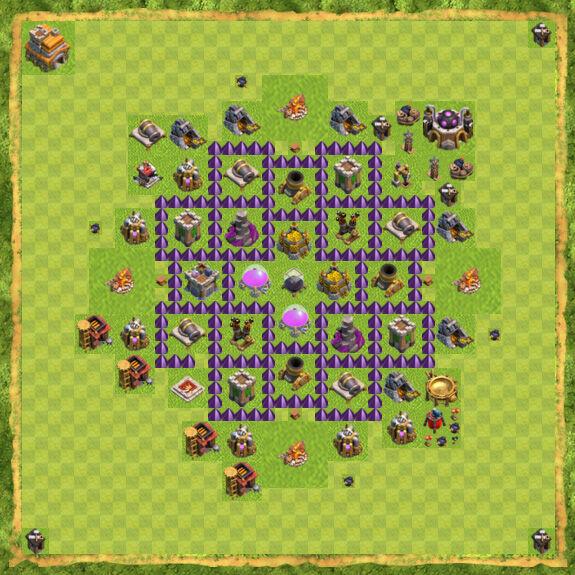 Base Farming Coc Th 7 5