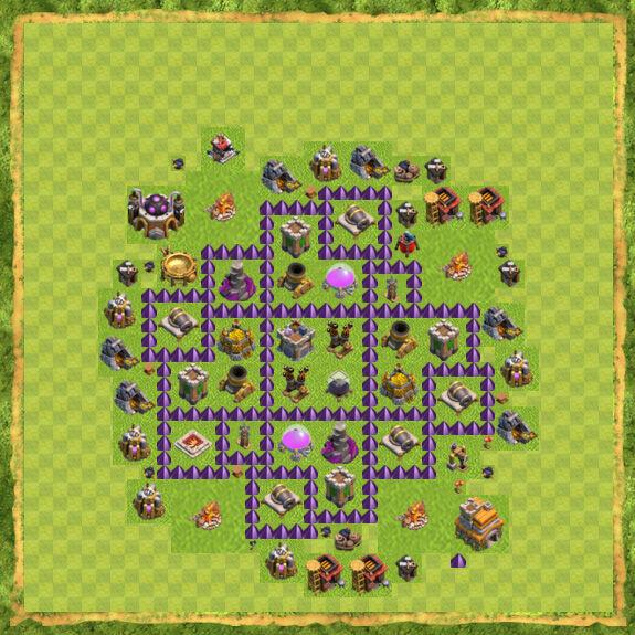 Base Farming Coc Th 7 50
