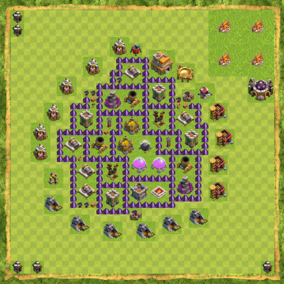 Base Farming Coc Th 7 6