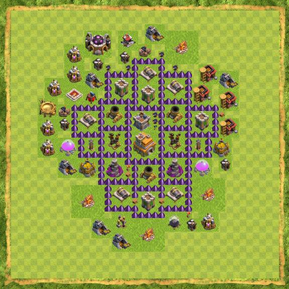 Base War Coc Th 7 11