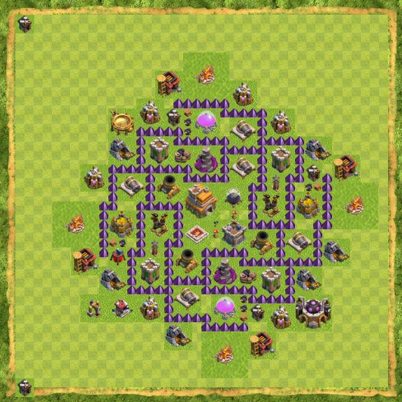 Base War Coc Th 7 13