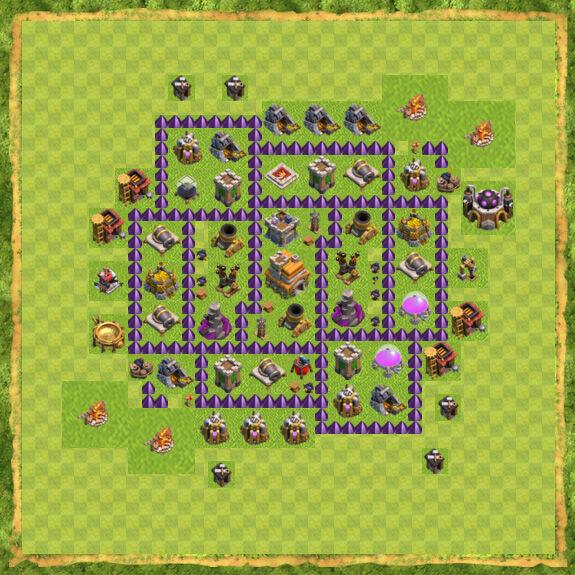 Base War Coc Th 7 17