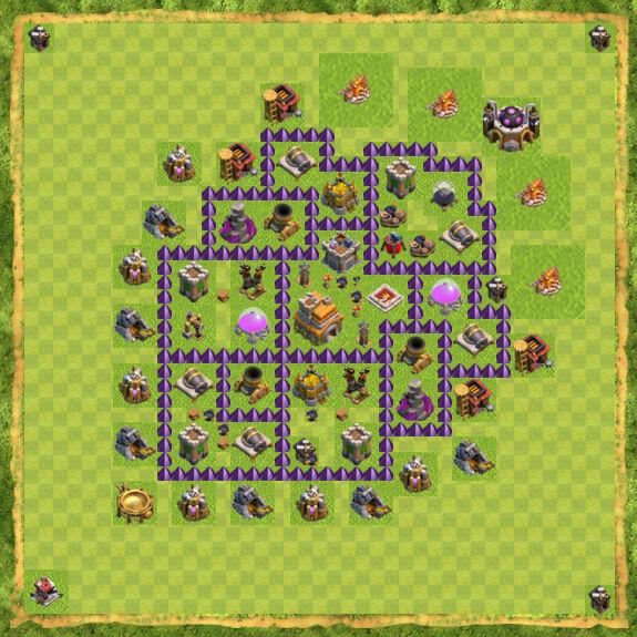 Base War Coc Th 7 2