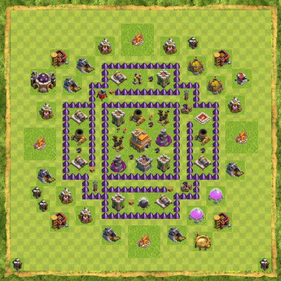 Base War Coc Th 7 28