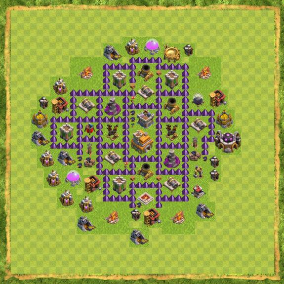 Base War Coc Th 7 3
