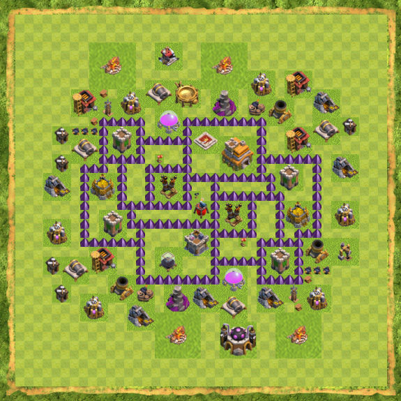 Base War Coc Th 7 7