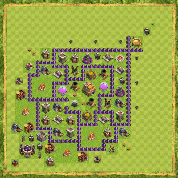 Base War Coc Th 7 9
