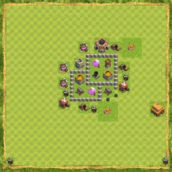 Base Farming Coc Th 3 10