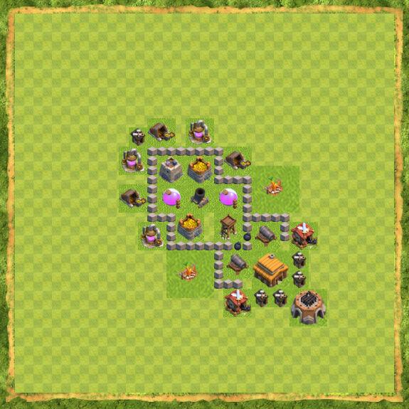 Base Farming Coc Th 3 11
