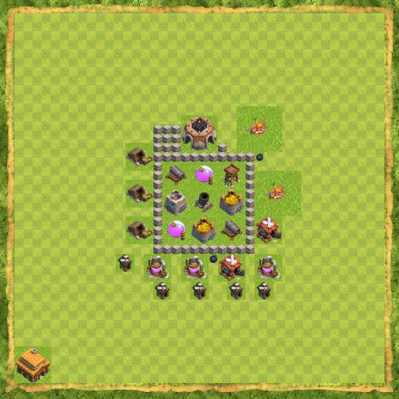 Base Farming Coc Th 3 12