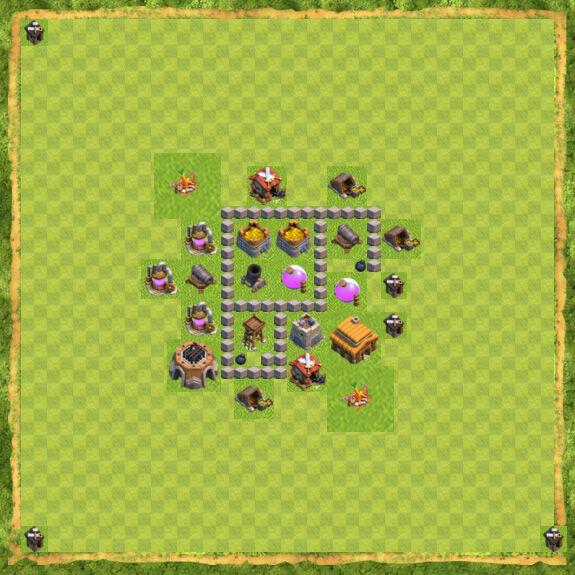 Base Farming Coc Th 3 13
