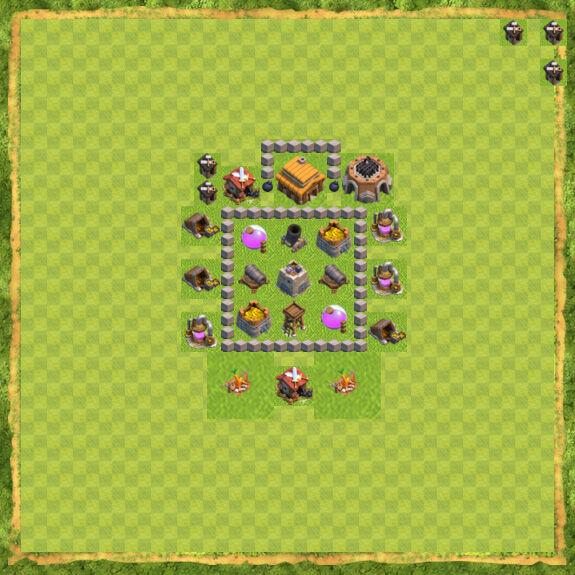 Base Farming Coc Th 3 16