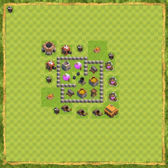 Base Farming Coc Th 3 2