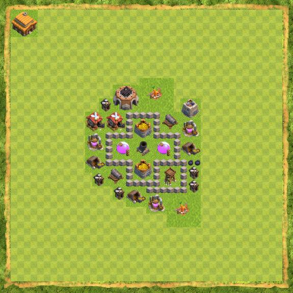 Base Farming Coc Th 3 24