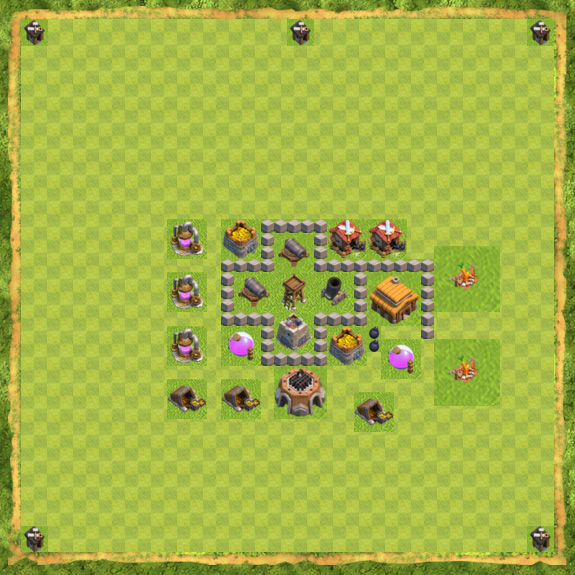 Base Farming Coc Th 3 25