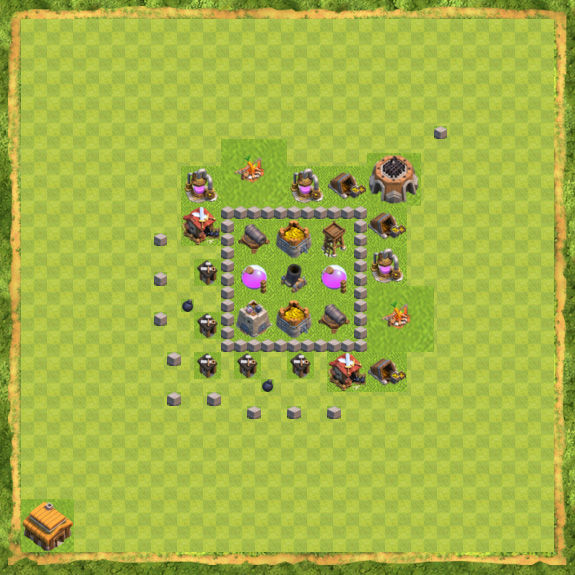 Base Farming Coc Th 3 3