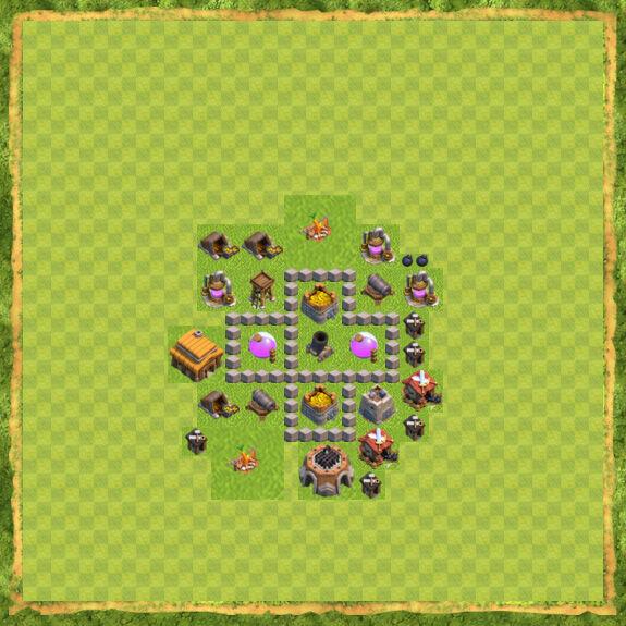 Base Farming Coc Th 3 4