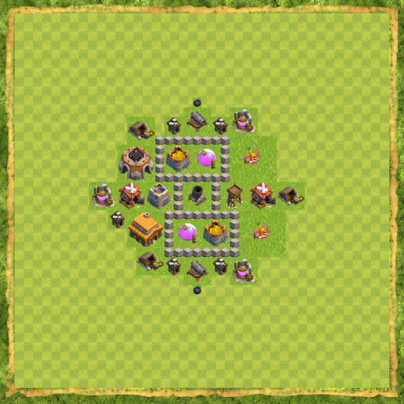 Base Farming Coc Th 3 6