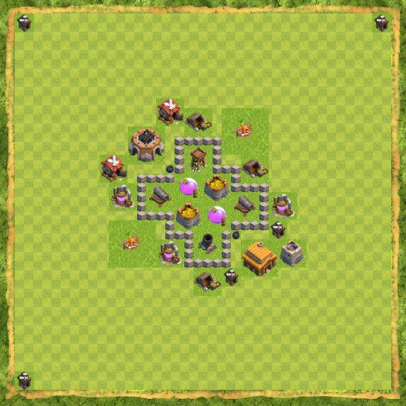 Base Farming Coc Th 3 9