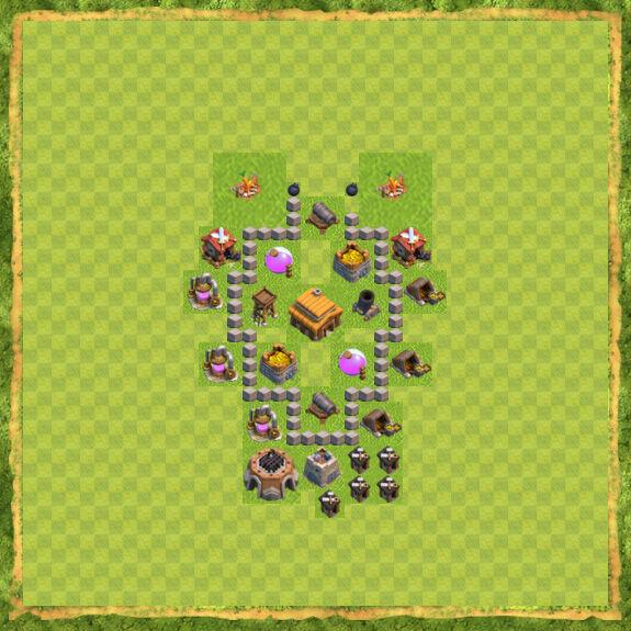 Base Trophy Coc Th 3 12
