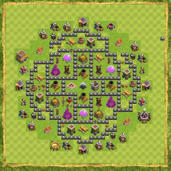 Base Farming Coc Th 8 1