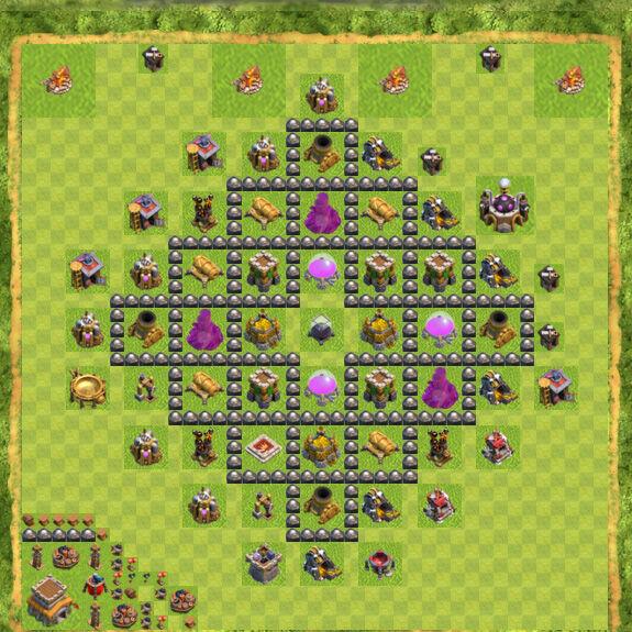 Base Farming Coc Th 8 10
