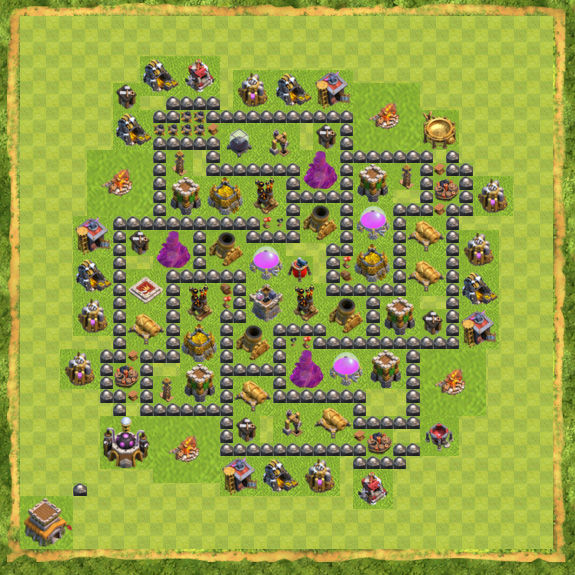 Base Farming Coc Th 8 11