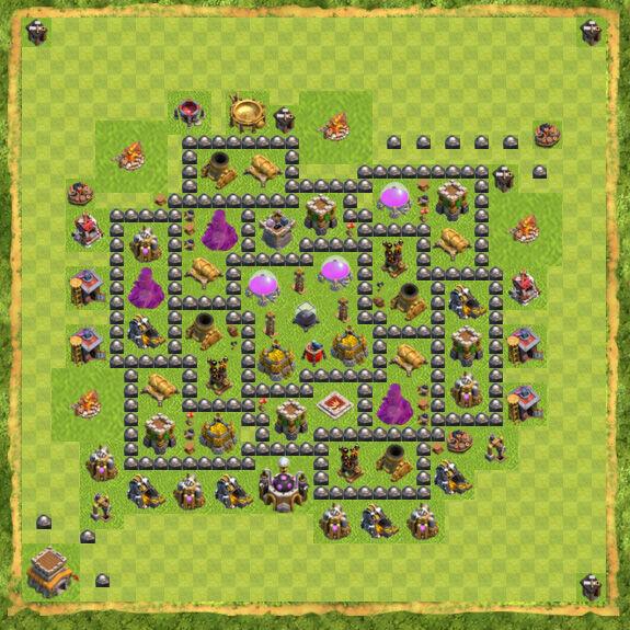 Base Farming Coc Th 8 12