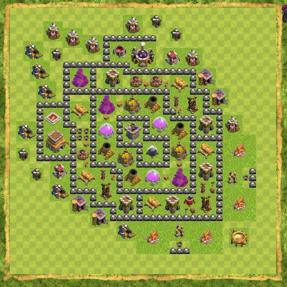 Base Farming Coc Th 8 13