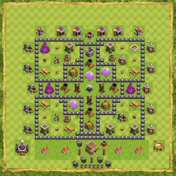 Base Farming Coc Th 8 14