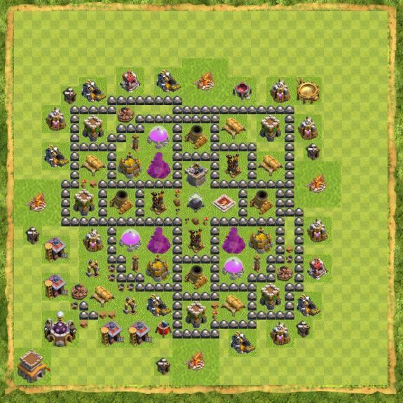Base Farming Coc Th 8 15