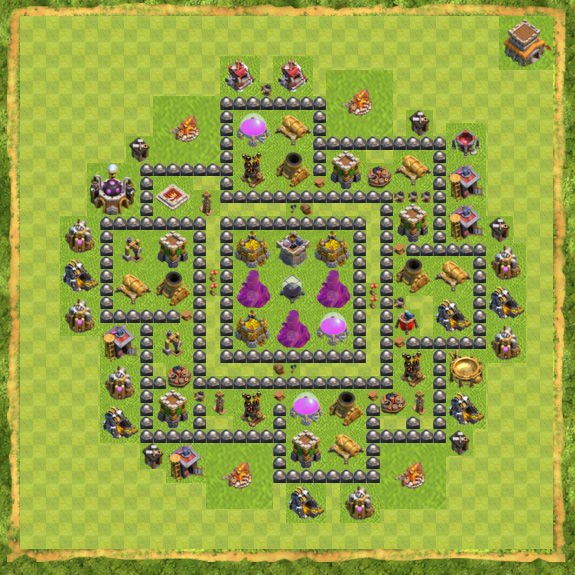 Base Farming Coc Th 8 16