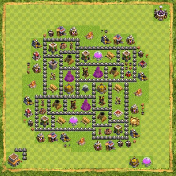 Base Farming Coc Th 8 18
